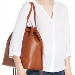Madewell Brown Large Drawstring Tote Bag
